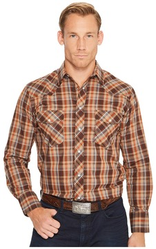 Roper 1212 Chocolate Rust Plaid Men's Clothing