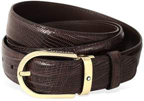 Montblanc Tejus Leather Belt - Brown