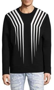 Diesel Black Gold Scratch Cotton Sweatshirt