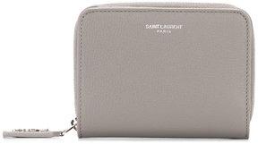Saint Laurent Rive Gauche compact zip wallet - GREY - STYLE