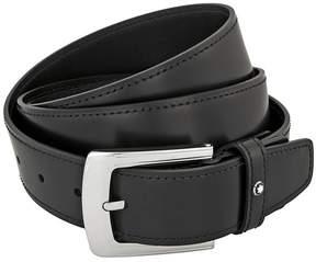 Montblanc Classic Line Black Leather Belt