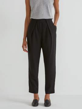 Frank and Oak Light Dropped Crotch Trouser in True Black