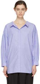Enfold Blue Cluster Stripe Twisted Shirt