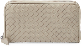 Bottega Veneta Women's Intrecciato Nappa Zip Around Wallet