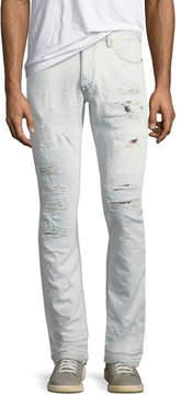 Just Cavalli Slim Distressed-Denim Jeans