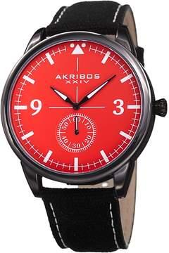 Akribos XXIV Men's Pilot Style with Arrow Strap Watch, 45mm