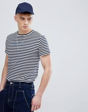Hackett Mr. Classic Stripe T-Shirt in Navy