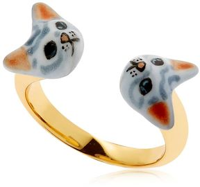 Nach Grey Cats Face To Face Ring