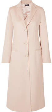 Joseph Archi Brushed Wool And Silk-blend Coat - Pastel pink
