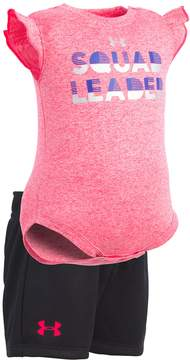 Under Armour Baby Girl Squad Leader Bodysuit & Shorts Set
