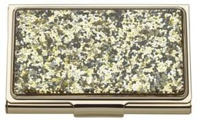 Kate Spade Women's Glitter Business Card Holder - Metallic - METALLIC - STYLE