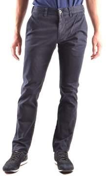 Stone Island Men's Blue Cotton Pants.