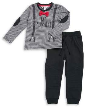Petit Lem Baby Boy's Two-Piece Mr. Elegant Top & Pants Set
