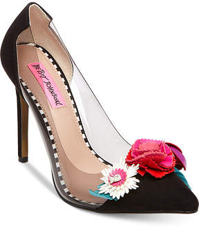 Betsey Johnson Jade Pointy Toe Pumps Women's Shoes