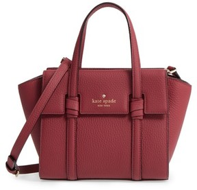 Kate Spade Mini Daniels Drive - Abigail Leather Satchel - Red - RED - STYLE