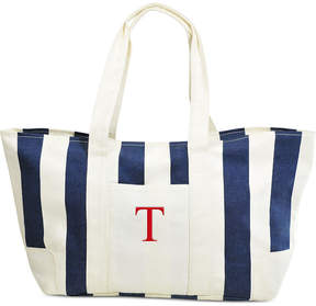 Cathy's Concepts Personalized Navy Striped Canvas Tote