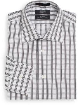 Saks Fifth Avenue BLACK Slim-Fit Check Cotton Dress Shirt