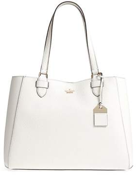 Kate Spade Carter Street - Tyler Leather Tote - WHITE - STYLE