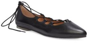 Me Too Alani Leather Ghillie Flats