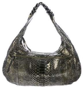 Nancy Gonzalez Metallic Snakeskin Hobo