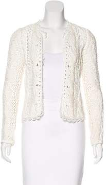 Vanessa Bruno Cable Knit Open Front Cardigan