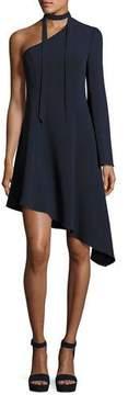 Cinq à Sept Kierra One-Shoulder Asymmetric Dress, Navy