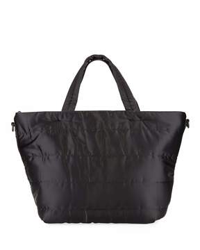 Neiman Marcus Quilted Nylon Tall Tote Bag