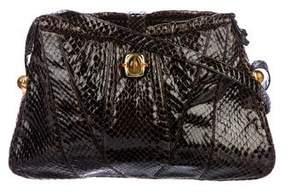Judith Leiber Snakeskin Shoulder Bag