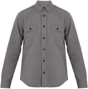 Faherty Lined cotton overshirt