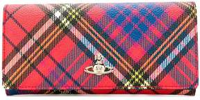Vivienne Westwood checked continental wallet