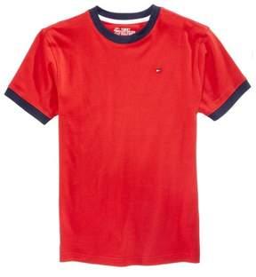 Tommy Hilfiger Boys Ken ringer Basic T-Shirt Red XL - Big Kids (8-20)
