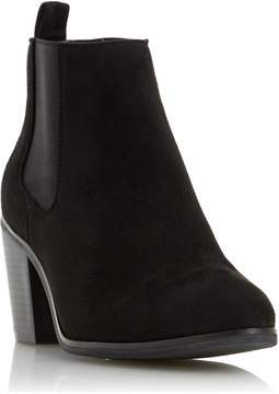 Head Over Heels by Dune PASEVE - BLACK Block Heel Chelsea Boot