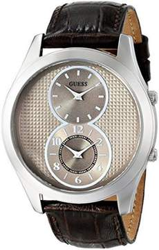 GUESS Men's U0376G2 Brown Chronograph Watch with Mink Dial, Rose Gold-Tone Case