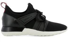 Moncler Men's Black Fabric Sneakers.