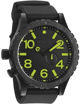 Nixon 51-30 Tide Black Dial Black PVD Men's Watch A0581256