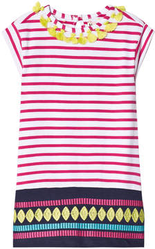 Hatley Pink Stripe Tassels Sleeveless Dress