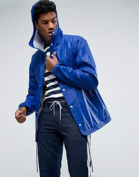 Herschel Forecast Hooded Coach Jacket Waterproof in Blue