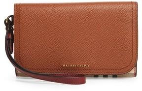 Burberry Women's Paine Leather Wristlet - Beige - BEIGE - STYLE