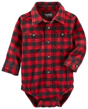 Osh Kosh Baby Boy Buffalo Check Flannel Bodysuit