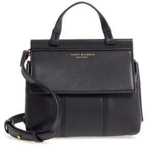 Tory Burch Mini Block-T Leather Satchel - Black - BLACK - STYLE