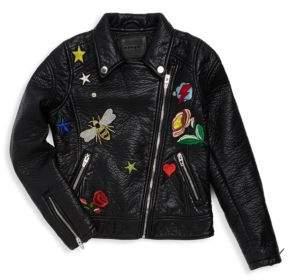 Blank NYC Girl's Asymmetrical Zip Jacket