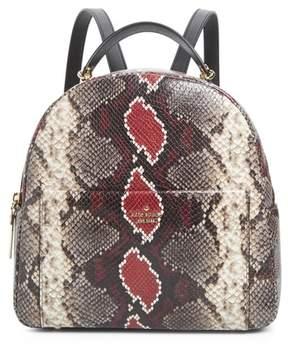 Kate Spade Reese Park - Ethel Snake Embossed Leather Backpack