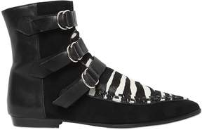 Isabel Marant 10mm Rowi Pony Skin & Suede Boots