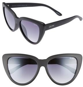 Quay Women's Stray Cat 58Mm Mirrored Cat Eye Sunglasses - Black Smoke