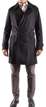 Allegri Men's Black Polyester Trench Coat.