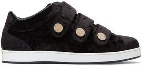 Jimmy Choo Black Velvet NY Sneakers