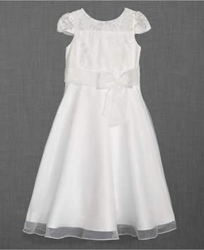 Us Angels Lace Illusion-Neck Dress, Big Girls