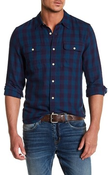 Lucky Brand Check Clean Two Pocket Classic Fit Shirt