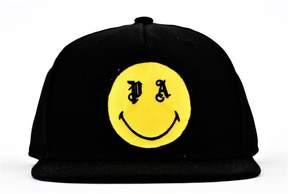Palm Angels Black Yellow Smiling Cap