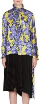 Balenciaga Poppy Silk Kimono Blouse